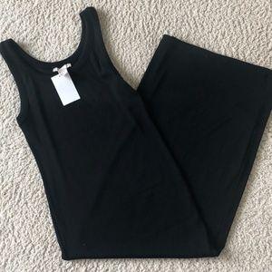 H&M Black Bodycon Midi Dress NWT